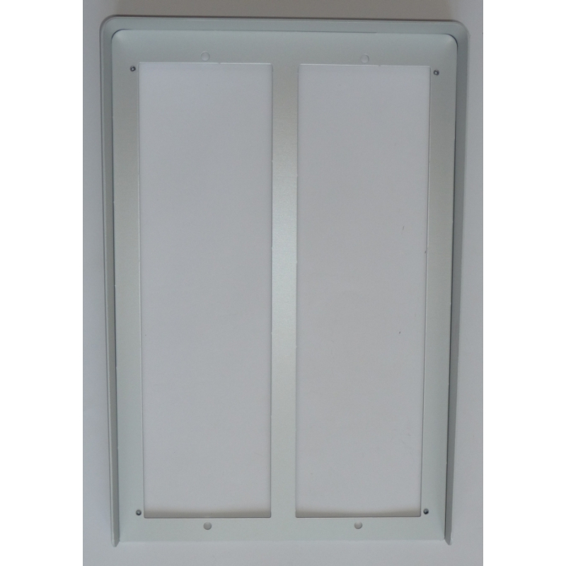MD808 Hood cover with flush mounting frame MD74 for eight modules in two rows MODY