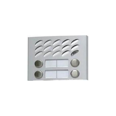 MD124 Aluminium MODY module with four buttons in two rows