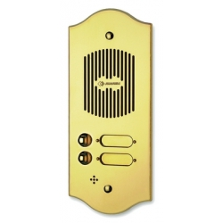 P108 Brass panel with eight buttons