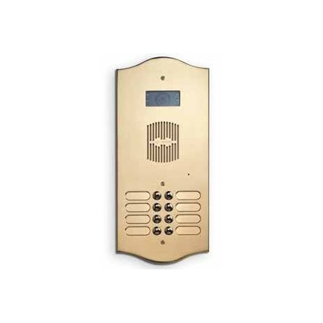 P102V Brass panel with two buttons in one row